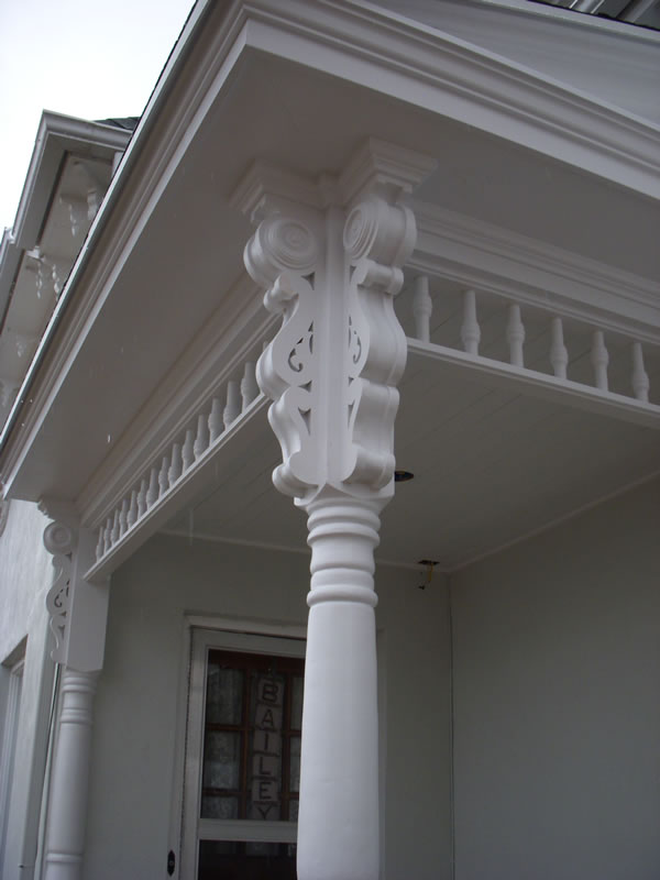 details of porch brackets